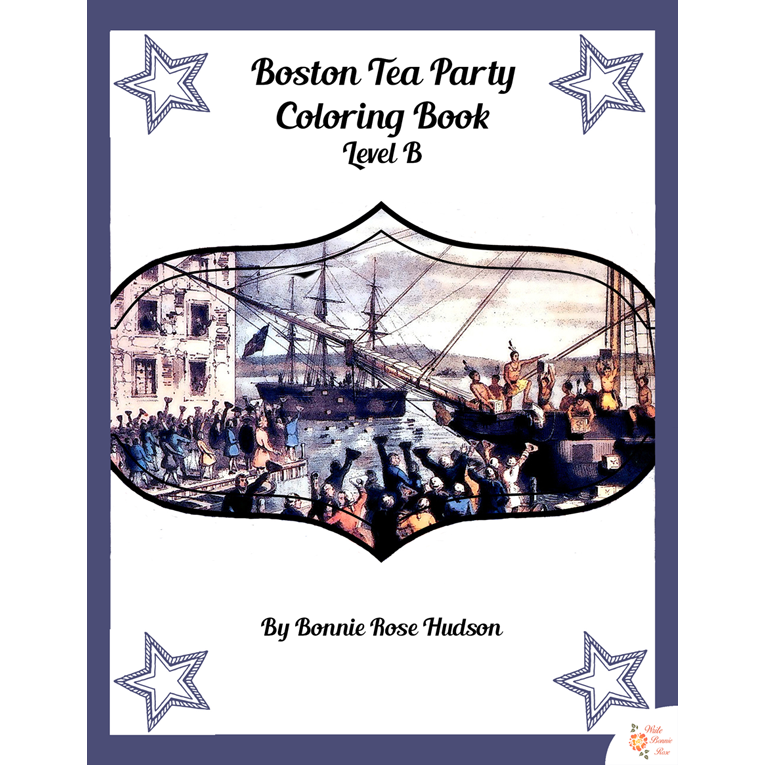 Boston Tea Party Coloring Book-Level B (e-book)