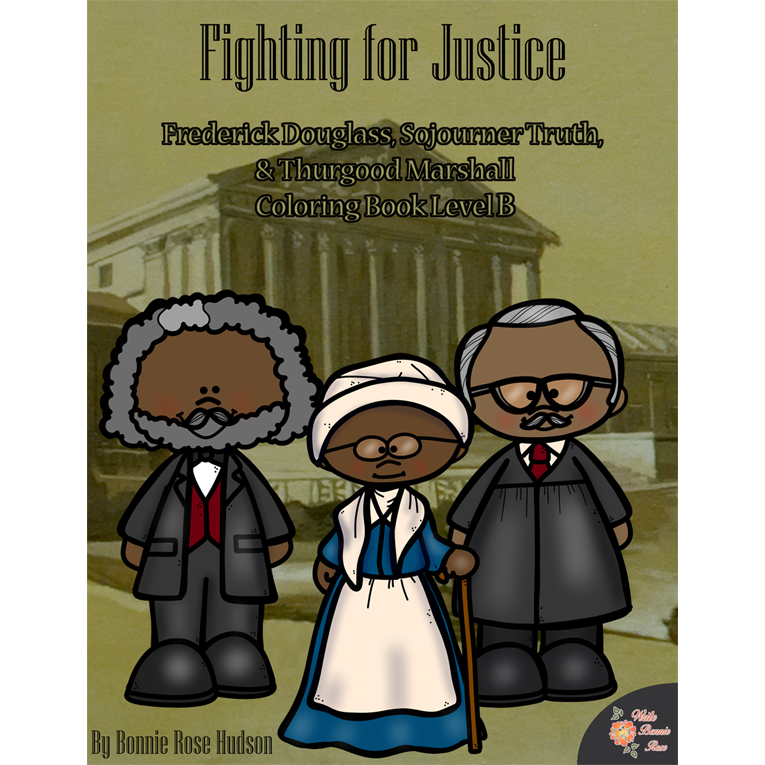 Fighting for Justice Coloring Book—Level B (e-book)