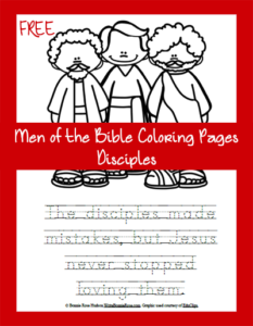 Free Men of the Bible Coloring Page-The Disciples