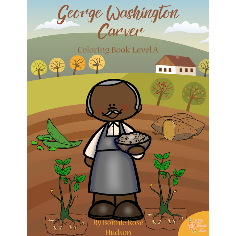 George Washington Carver Coloring Book—Level A (e-book)