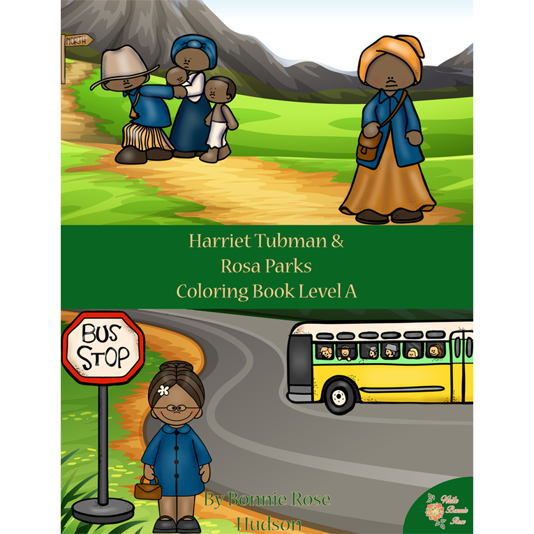 Harriet Tubman & Rosa Parks Coloring Book—Level A (e-book)