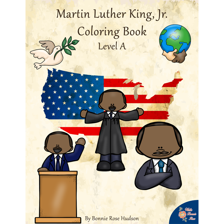 Martin Luther King, Jr. Coloring Book—Level A (e-book)