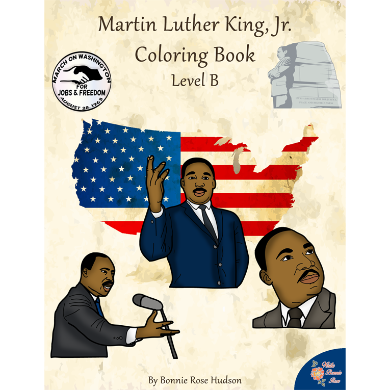 Martin Luther King, Jr. Coloring Book—Level B (e-book)