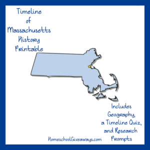 Free Massachusetts State History Printable
