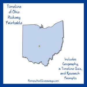 Free Ohio State History Printable