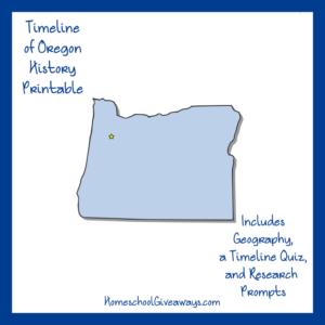 Free Oregon State History Printable