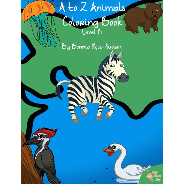 A to Z Animals Coloring Book-Level B (e-book)