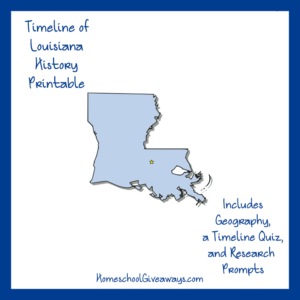 Free Louisiana State History Printable