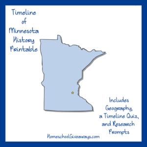 Free Minnesota State History Printable