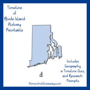 Free Rhode Island State History Printable