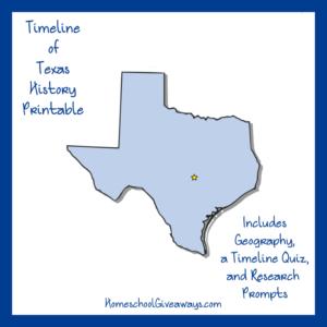 Free Texas State History Printable