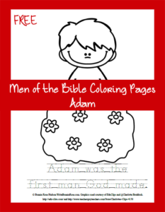 Free Men of the Bible Coloring Page-Adam