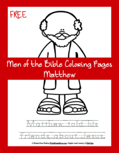 Free Men of the Bible Coloring Page-Matthew