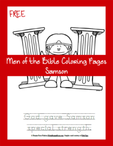 Free Men of the Bible Coloring Page-Samson
