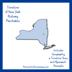 Free New York State History Printable