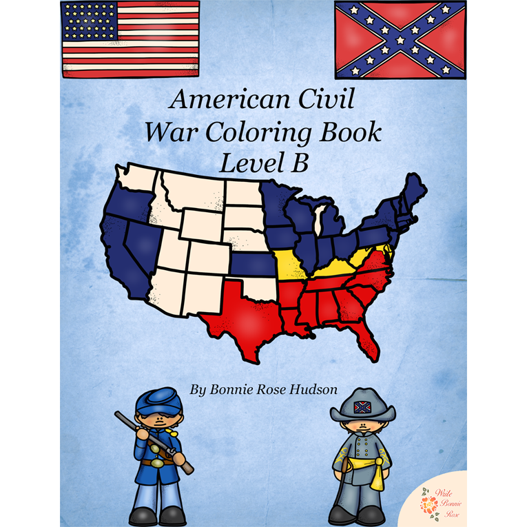 American Civil War Coloring Book-Level B (e-book)