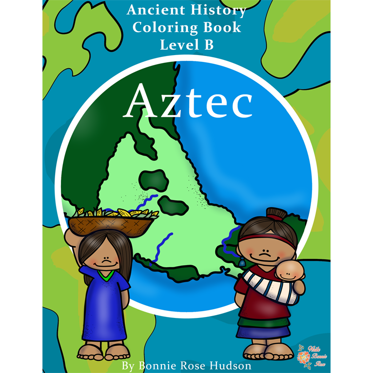 Ancient History Coloring Book: Aztec-Level B (e-book)