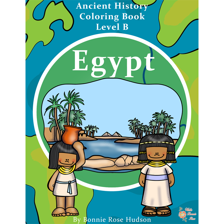 Ancient History Coloring Book: Egypt-Level B (e-book)