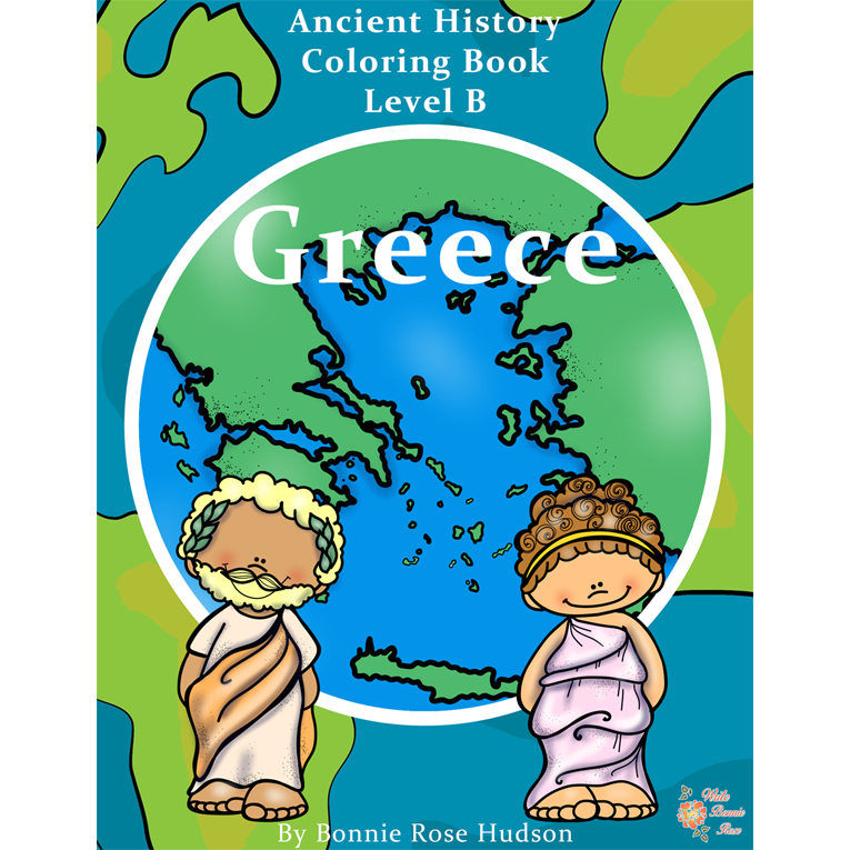 ancient history coloring book greece level b e book