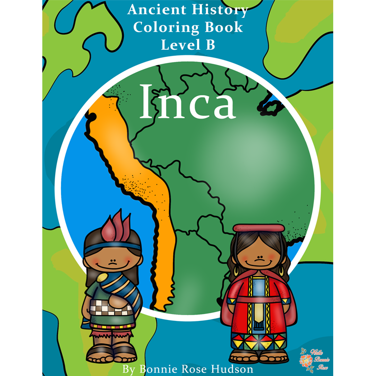 Ancient History Coloring Book: Inca-Level B (e-book)