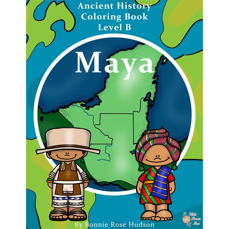 Ancient History Coloring Book: Maya-Level B (e-book)