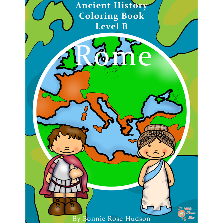 Ancient History Coloring Book: Rome-Level B (e-book)