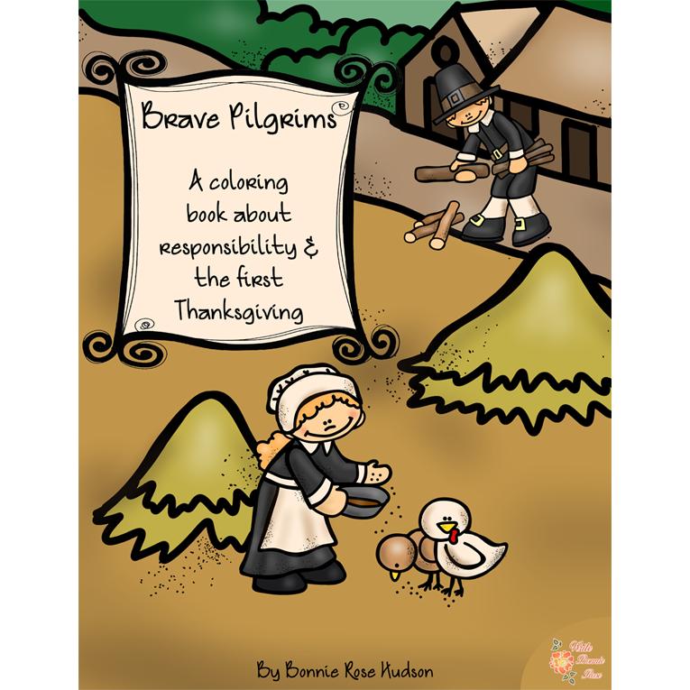 Brave Pilgrims Coloring Book (e-book)