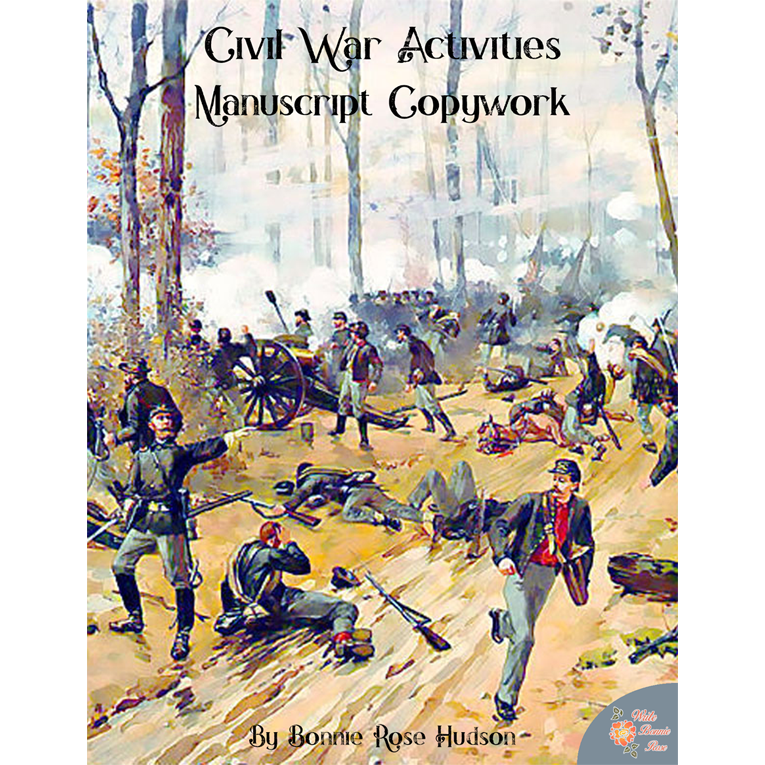Civil War Activities for Kids: Manuscript Copywork (e-book)