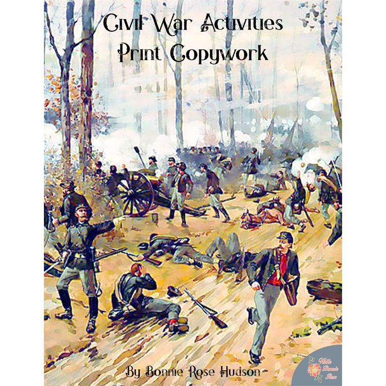 Civil War Activities for Kids: Print Copywork (e-book)