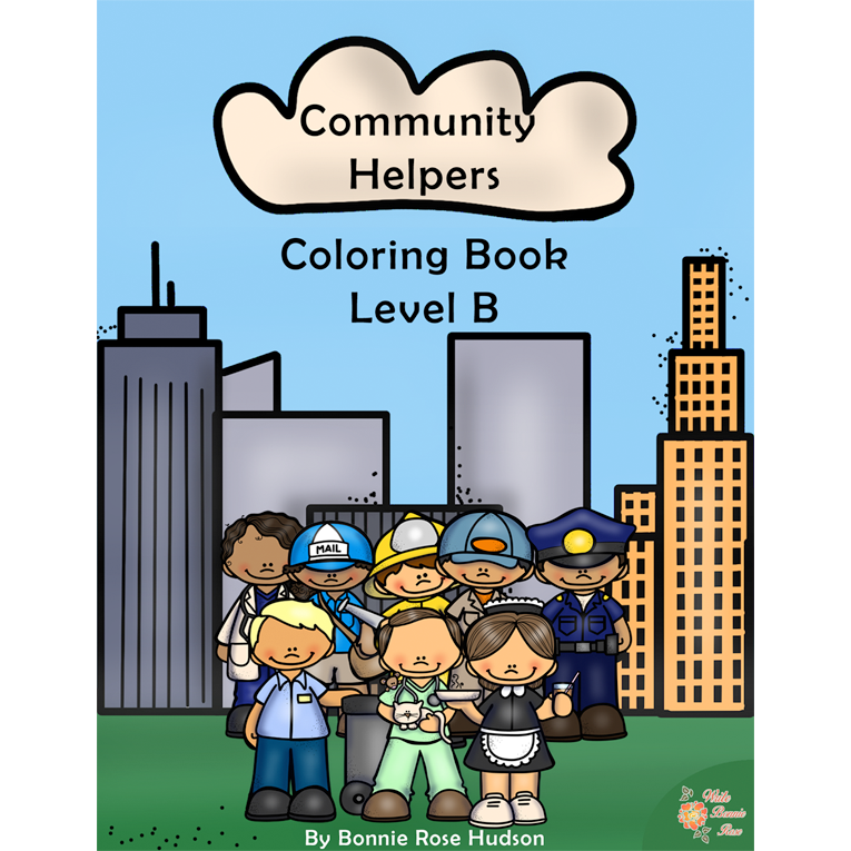 Community Helpers Coloring Book-Level B (e-book)