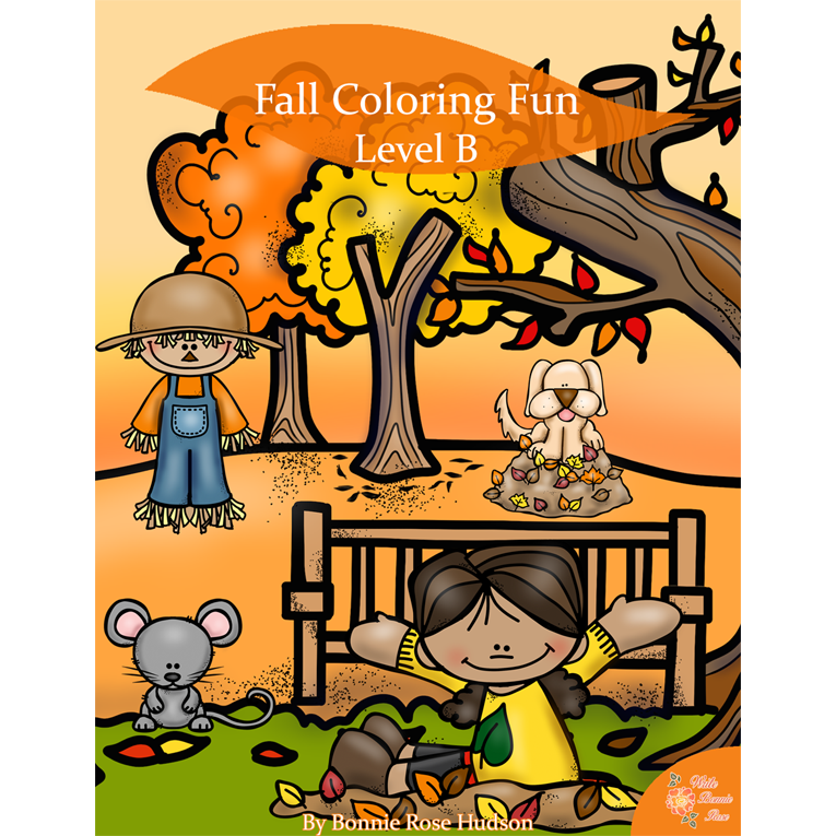 Fall Coloring Fun-Level B (e-book)
