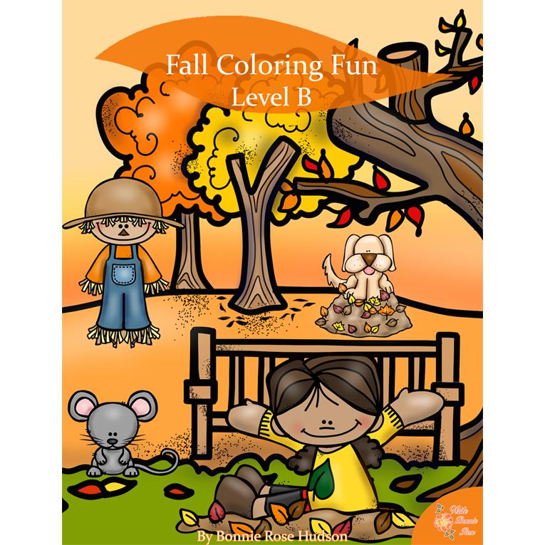 Fall Coloring Fun-Level B (e-book)