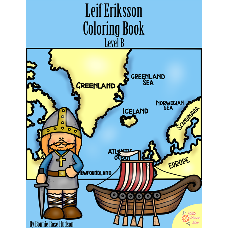 Leif Eriksson Coloring Book-Level B (e-book)