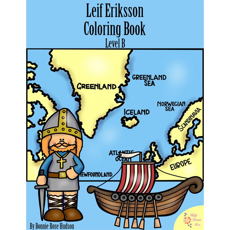 Leif Eriksson Coloring Book-Level B (e-book)