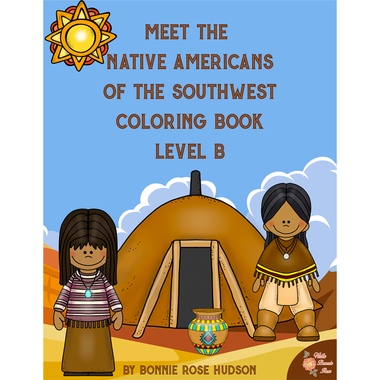 Meet the Native Americans of the Southwest Coloring Book-Level B (e-book)
