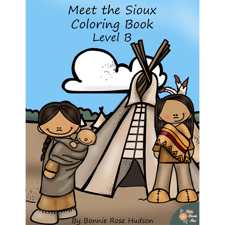 Meet the Sioux Coloring Book-Level B (e-book)