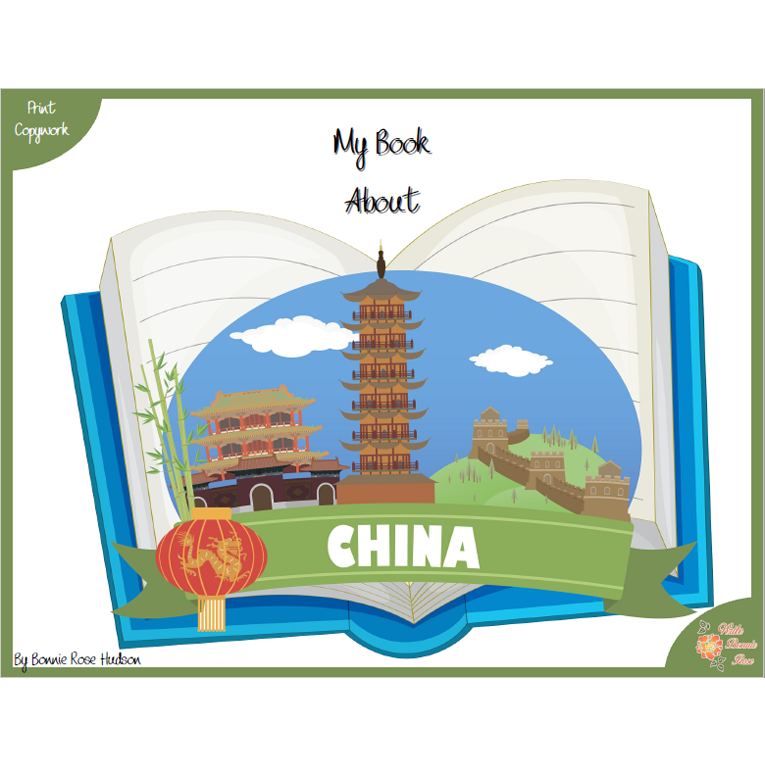 My Book About China with Print Copywork (e-book)