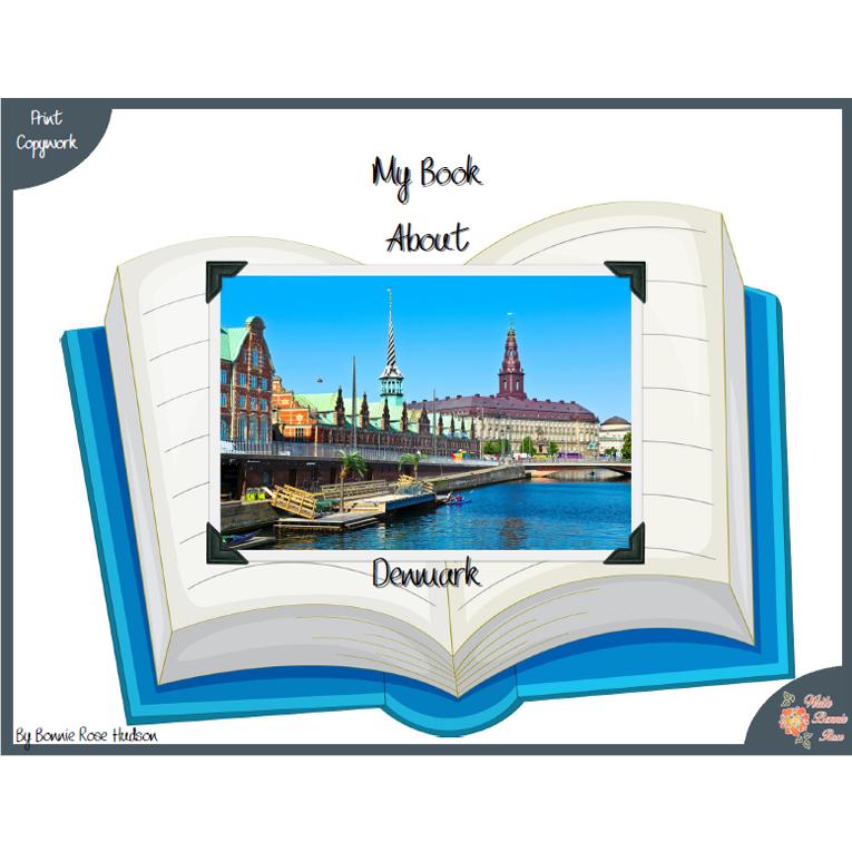 My Book About Denmark with Print Copywork (e-book)