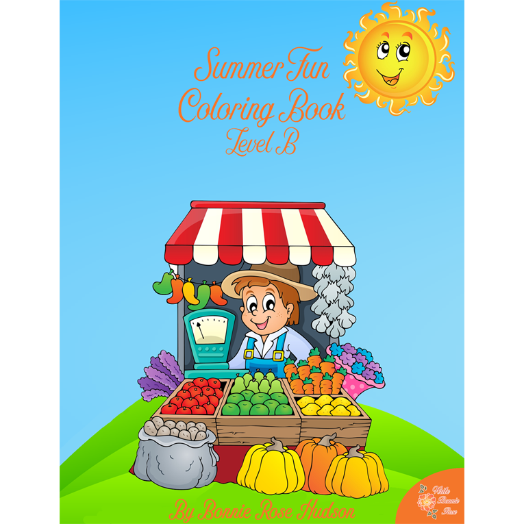 Summer Fun Coloring Book-Level B (e- book)
