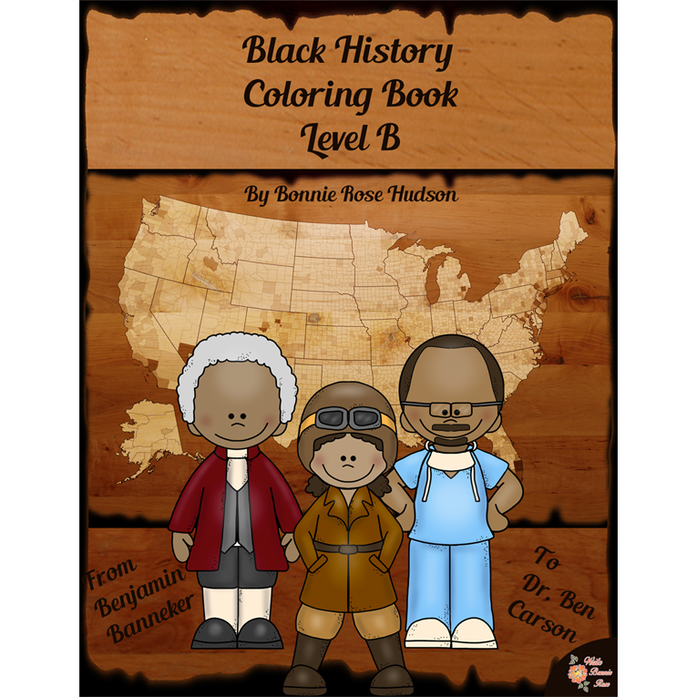 Black History Coloring Book-Level B (e-book)
