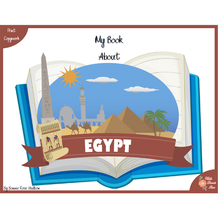 My Book About Egypt with Print Copywork (e-book)
