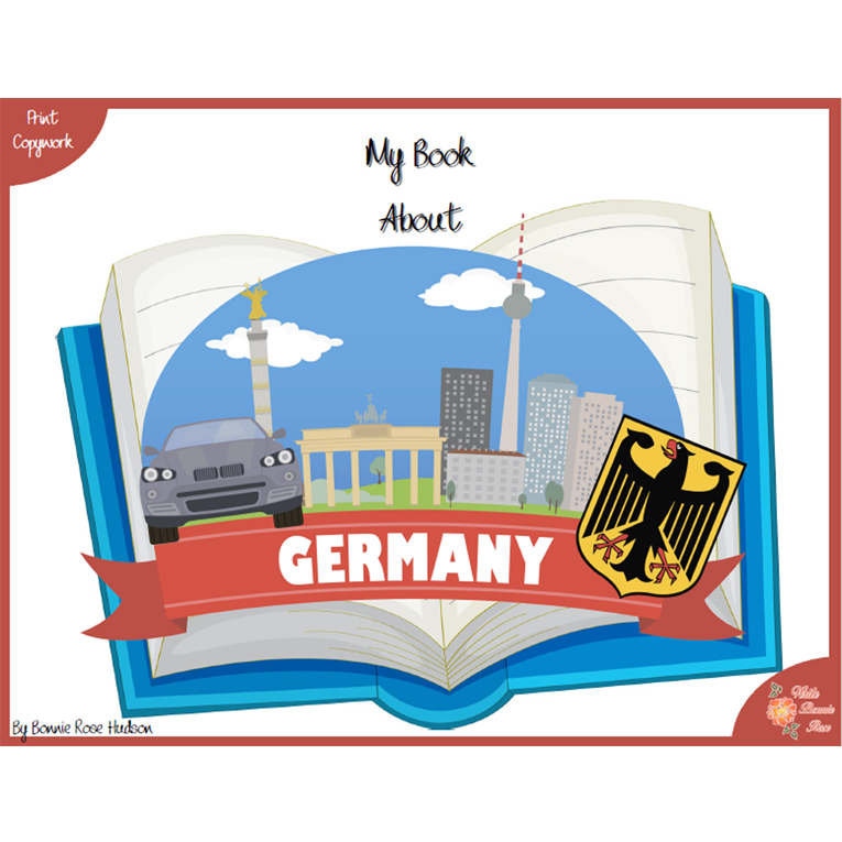 My Book About Germany with Print Copywork (e-book)