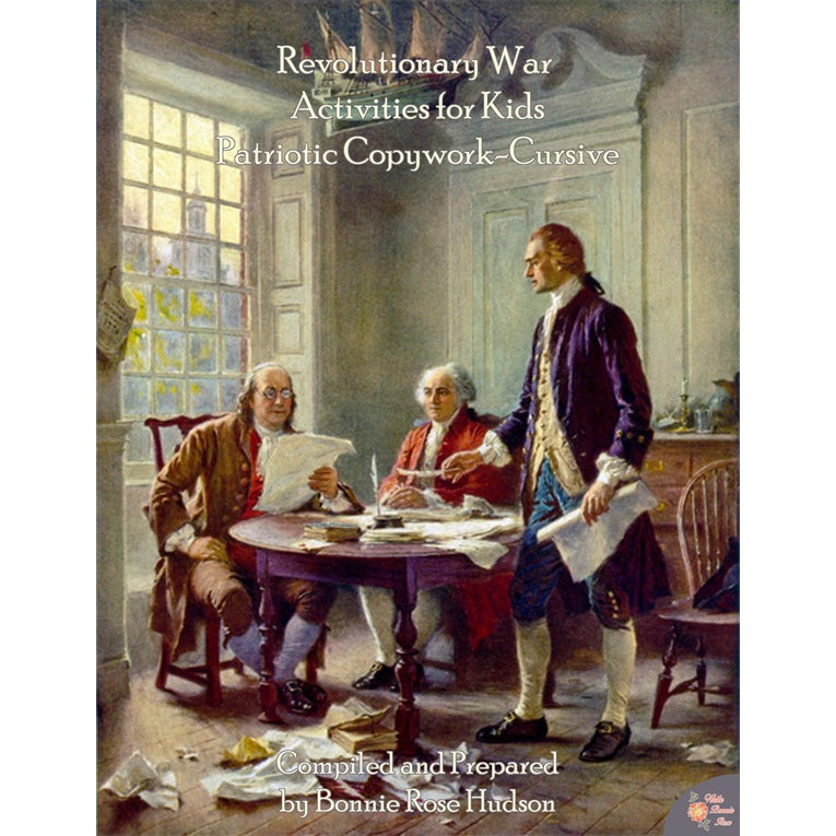 Revolutionary War Activities for Kids: Cursive Copywork (e-book)