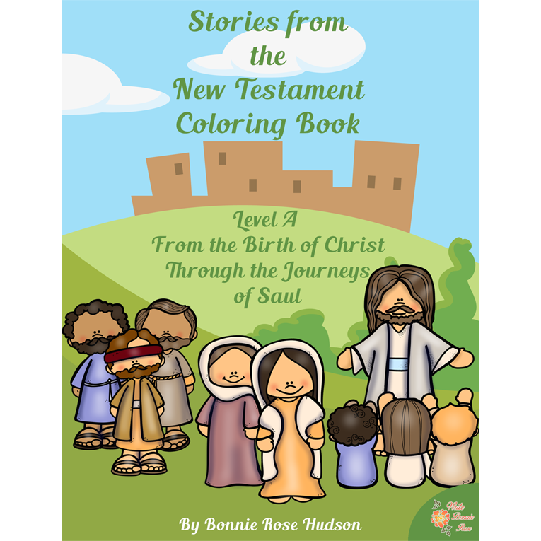 Stories from the New Testament Coloring Book-Level A (e-book)