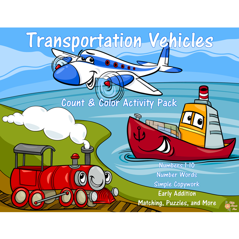 Transportation Vehicles Count and Color (e-book)