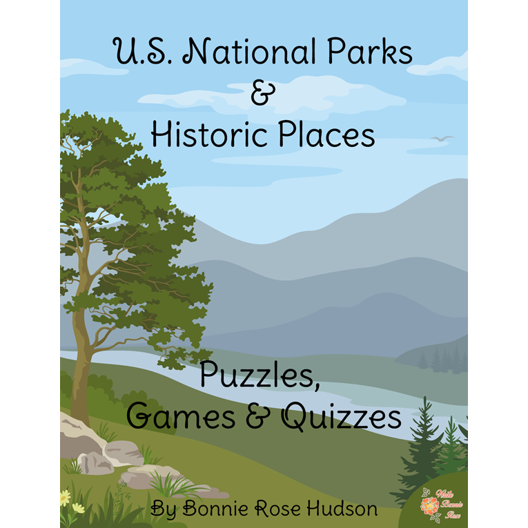 US National Parks Puzzles, Games, and Quizzes Cover for WBR