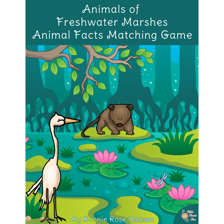 Animals of Freshwater Marshes: Animal Facts Matching Game (e-book)