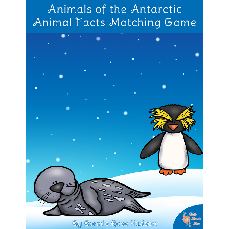 Animals of the Antarctic: Animal Facts Matching Game (e-book)