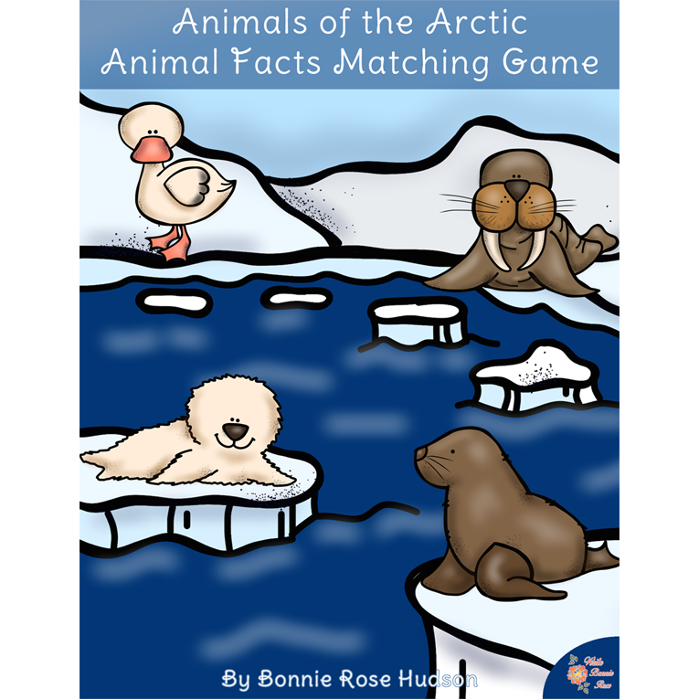 Animals of the Arctic: Animal Facts Matching Game (e-book)