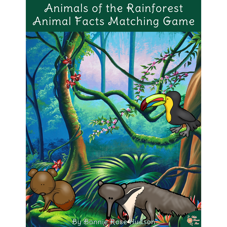 Animals of the Rainforest: Animal Facts Matching Game (e-book)